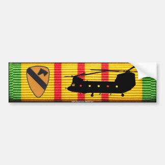 1r Caballería Div. Pegatina para el parachoques de Pegatina De Parachoque