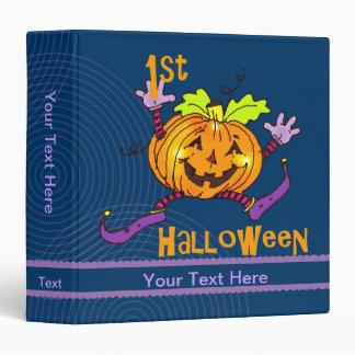 """1r Calabaza feliz de Halloween 1,5 pulgadas Carpeta 1 1/2"""""""