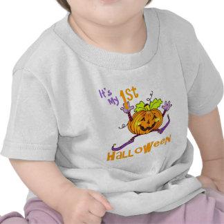 1r Calabaza feliz de Halloween Camiseta