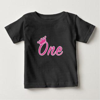 1r Camisa de la tiara del chica del cumpleaños -