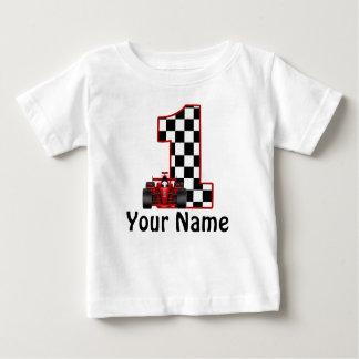 1r Camisa personalizada coche de carreras del