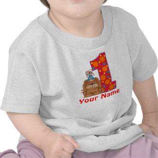 1r Camisa personalizada perrito del cumpleaños