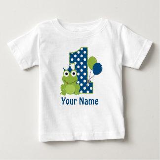 1r Camisa personalizada rana del cumpleaños