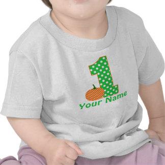 1r Camiseta de la calabaza del muchacho del cumple