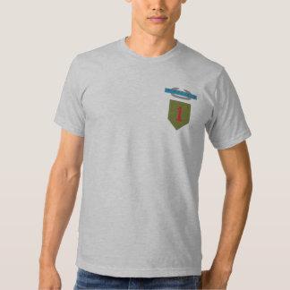 1r Camiseta de la insignia de infantería de Camisas