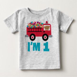 1r Camiseta de los muchachos del bombero del coche Camisas