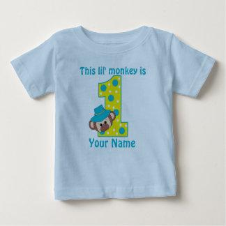1r Camiseta de Personalzied del muchacho del mono Playeras