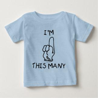 1r Camiseta del cumpleaños Camisas