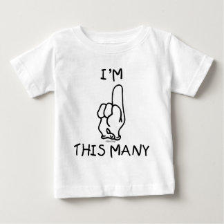 1r Camiseta del cumpleaños Playera