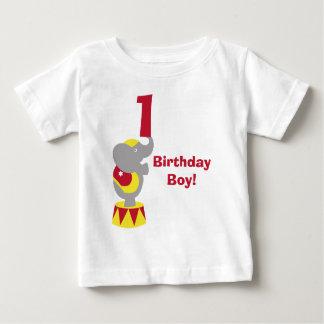 1r Camiseta del elefante del circo del cumpleaños