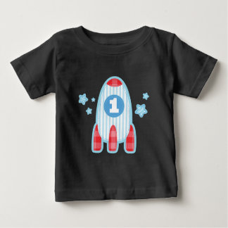 1r Camiseta del espacio de la nave de Rocket del