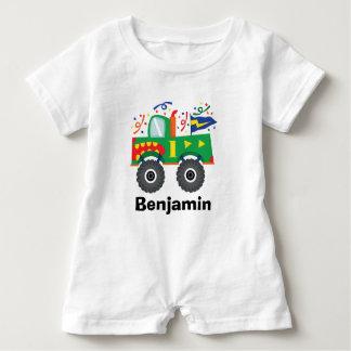 1r Camiseta del monster truck del cumpleaños Playera