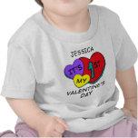 1r Camiseta del niño de los corazones del el día