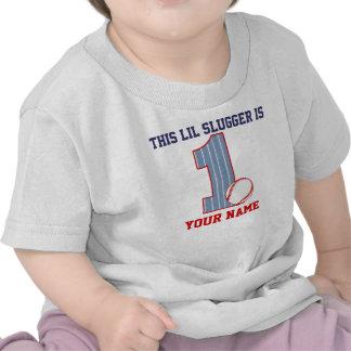 1r Camiseta personalizada béisbol del cumpleaños