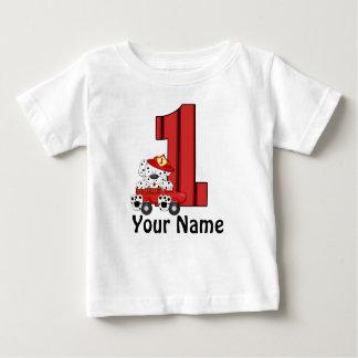 1r Camiseta personalizada Dalmation del cumpleaños Playera