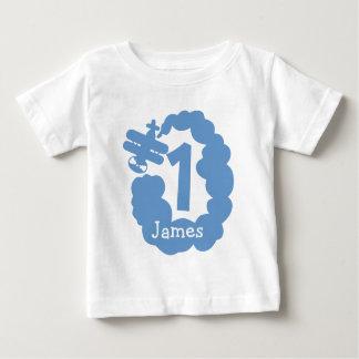 1r Camiseta personalizada el | del aeroplano del Playeras