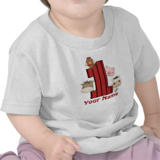 1r Camiseta personalizada granja del cumpleaños