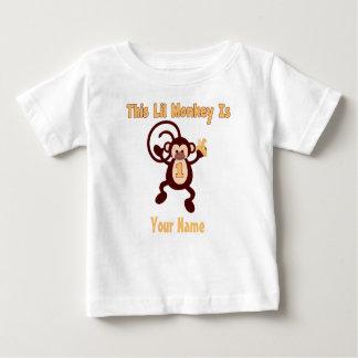 1r Camiseta personalizada mono del cumpleaños Playeras