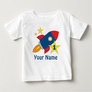 1r Camiseta personalizada Rocket del cumpleaños Playera