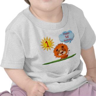 1r Camisetas del cumpleaños para los muchachos con