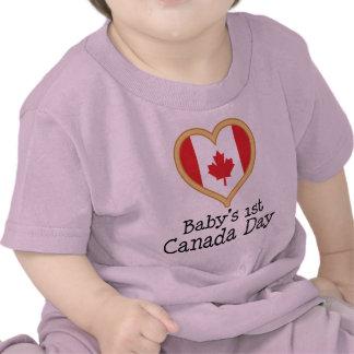 1r Canadá día de Babys Camiseta