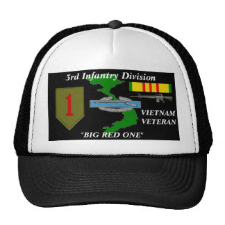 1r Casquillo de la bola del Div Vietnam de la infa Gorra