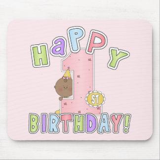 1r Chica del afroamericano del cumpleaños Mousepad
