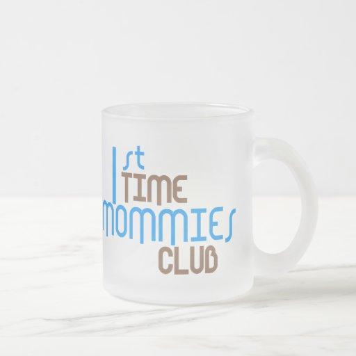 1r Club de las mamás del tiempo (azul) Tazas