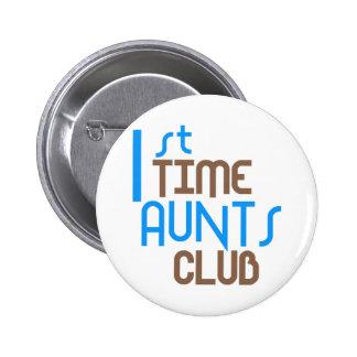 1r Club de las tías del tiempo (azul) Pins