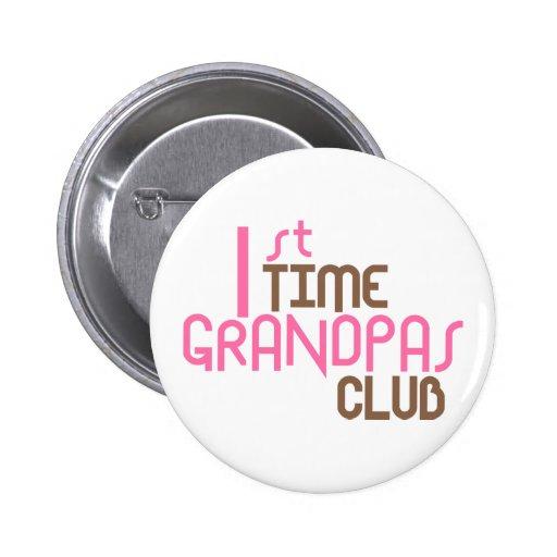 1r Club de los abuelos del tiempo (rosa) Pin Redondo De 2 Pulgadas