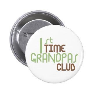 1r Club de los abuelos del tiempo (verde) Pin Redondo De 2 Pulgadas
