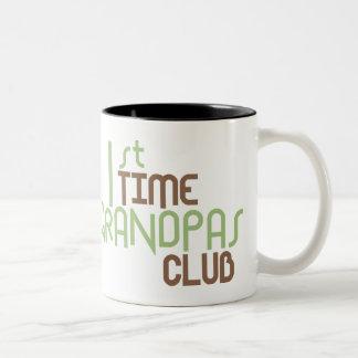 1r Club de los abuelos del tiempo (verde) Taza De Dos Tonos