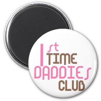 1r Club de los papás del tiempo (rosa) Imán Redondo 5 Cm