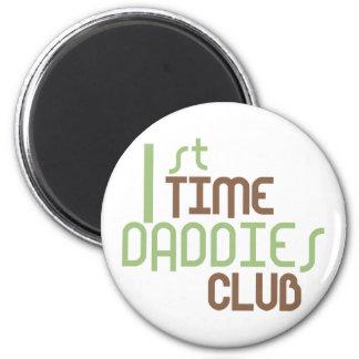 1r Club de los papás del tiempo (verde) Imán Redondo 5 Cm