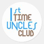 1r Club de los tíos del tiempo (azul) Etiqueta Redonda