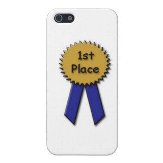 1r Coloque Blue Ribbon iPhone 5 Fundas