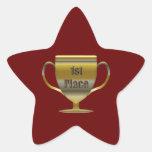 1r Coloque el trofeo Colcomanias Forma De Estrellaes Personalizadas