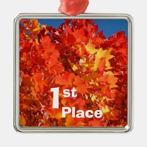 1r Coloque las hojas de otoño colgantes de los orn Ornamento Para Reyes Magos