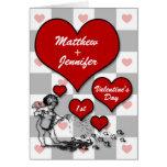 1r Corazón de encargo del Cupid el   del el día de Tarjeta