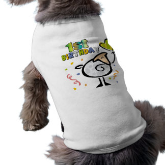 1r Cordero del cumpleaños Playera Sin Mangas Para Perro
