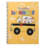 1r cuaderno del autobús de escuela primaria del pe