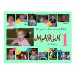 1r cumpleaños 12 meses de postal de la foto