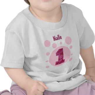 1r Cumpleaños Camo y burbujas un V31A año Camisetas