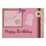 1r cumpleaños - chica felicitacion