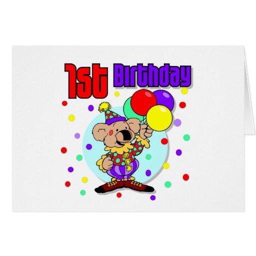 1r Cumpleaños de Australia del cumpleaños Tarjeta De Felicitación
