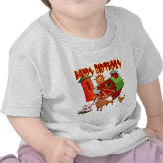 1r Cumpleaños de la granja del cumpleaños Camisetas