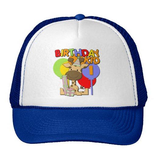 1r cumpleaños de la jirafa gorro de camionero