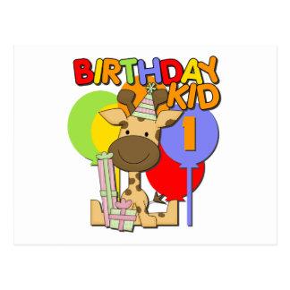 1r cumpleaños de la jirafa postales