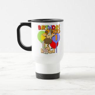 1r cumpleaños de la jirafa taza de café