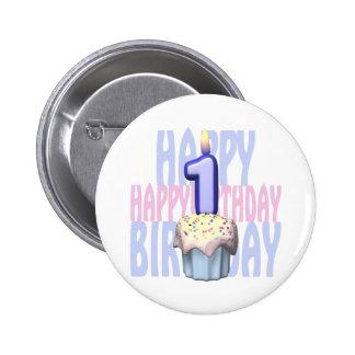 1r Cumpleaños de la magdalena del cumpleaños Pin